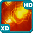 Valentine Golden Hearts HD Live Wallpaper for Android OS