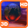 Virtual News Futuristic Studio Globe Android Personalization 3D Live Wallpaper download from piedlove.com