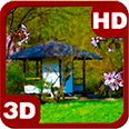 Zen Garden House Sakura HD Live Wallpaper for Android OS