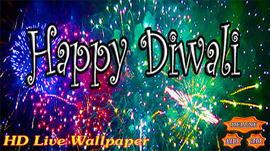 Happy Diwali Fireworks Deluxe HD Edition 3D Live Wallpaper for Android